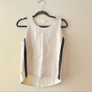 ZARA W & B COLLECTION FAUX LEATHER SLEEVELESS TOP